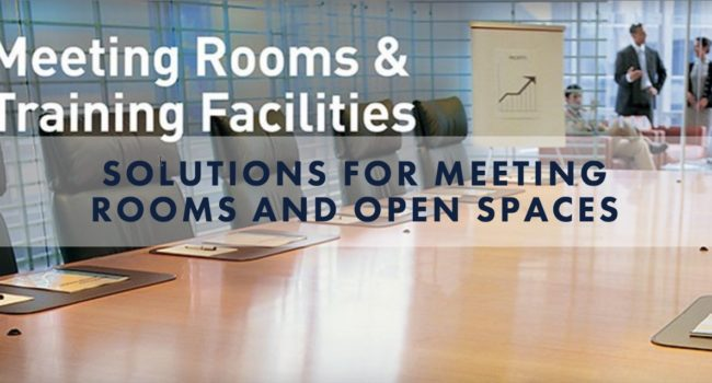 meeting rooms and open spaces